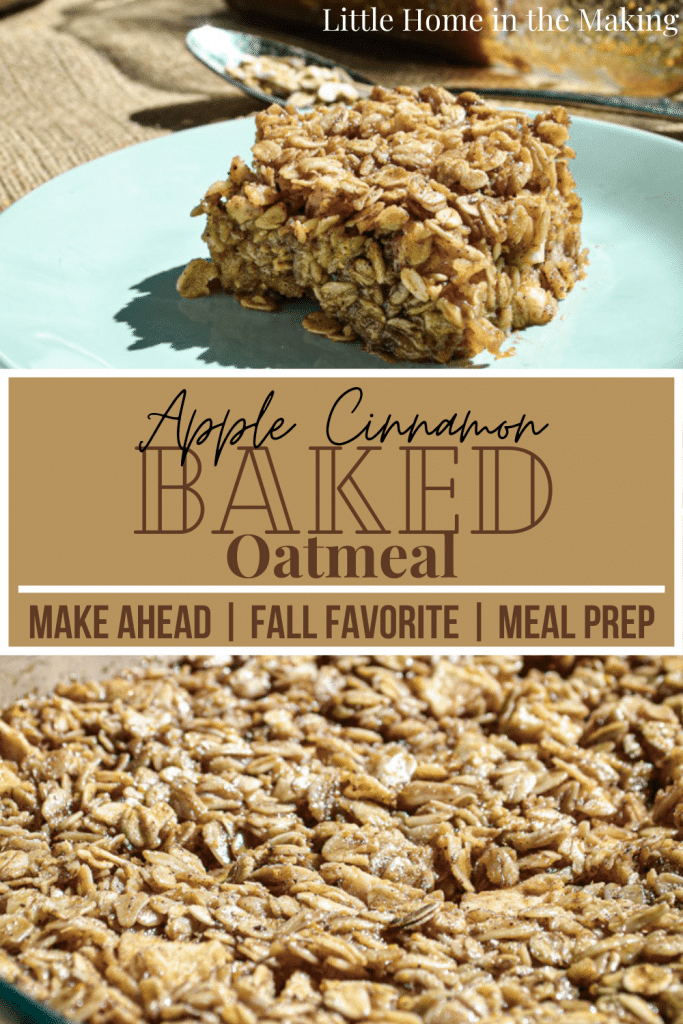 Old Fashioned Oats and chunks of real apple are baked together for a real breakfast time treat: Apple Cinnamon Baked Oatmeal!
