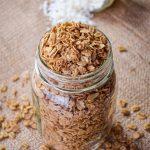 Healthy Vegan Cinnamon Granola - Refined Sugar Free