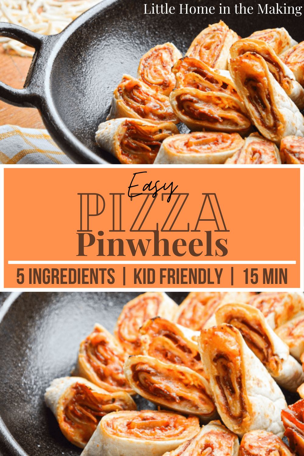 You just have to love these Easy Pizza Pinwheels! Just 5 ingredients and 20 minutes delivers a quick lunch or an appetizer to accompany a fun meal. Kid friendly too!