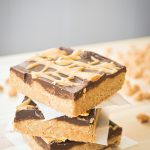 No Bake Peanut Butter Bars with a Peanut Butter Drizzle