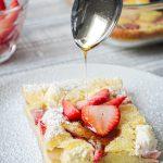 Strawberry Cream Cheese Sourdough Pancake - No Wait Discard Recipe