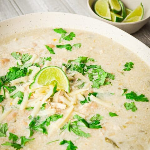 One of the BEST Crock Pot Chicken Recipes! You just have to try this Slow Cooker White Chicken Chili!
