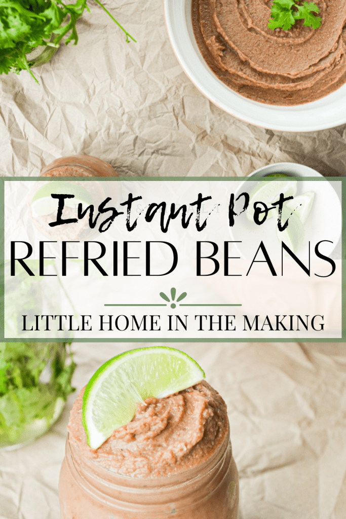 Use your Instant Pot and save money (and sodium) when you make your very own Instant Pot Refried Pinto Beans! The best part? These have NO ADDED FAT! Tastes better from scratch and freezes wonderfully too!