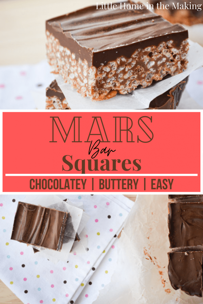 Mars Bar Squares are the ultimate easy dessert! Melted chocolate bars combine with rice cereal (AKA Rice Krispies) to make something wonderful!