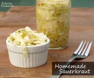 Homemade German Sauerkraut - Curious Cuisiniere