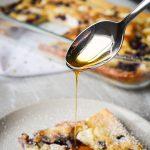Blueberry Cream Cheese Sourdough Baked Pancake - Sourdough Discard Recipe