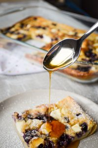 You are just going to LOVE this Blueberry Cream Cheese Sourdough Baked Pancake! This uses up a lot of discard, is full of protein, and totally delicious!