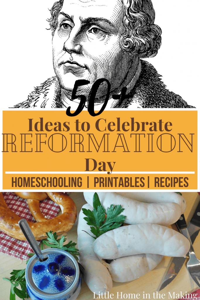 Find some interesting ideas and ways to celebrate Reformation Day this year! German recipes, homeschooling resources, coloring pages, and more! Making learning fun (and tasty too!)