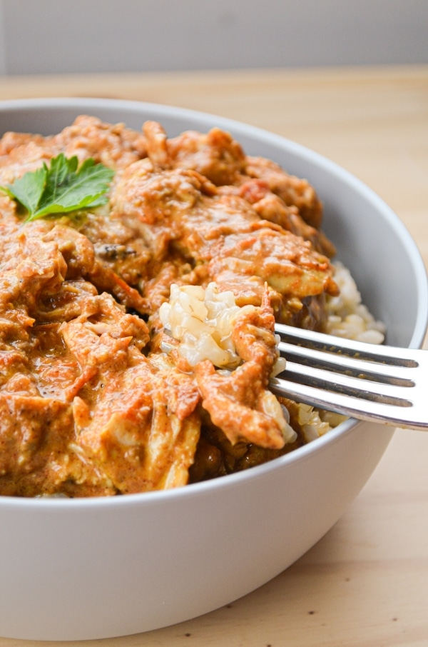 The BEST Chicken Thighs Crock Pot recipe! Slow Cooker Butter Chicken is an easy, flavorful meal that makes excellent use of slow and low cooking!