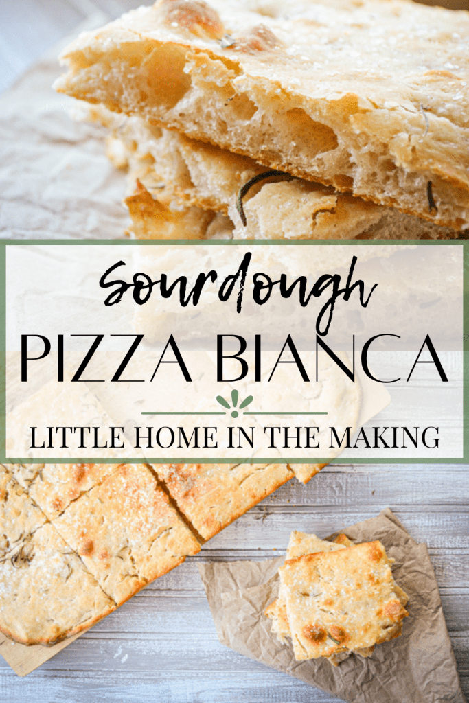 Fun, bubbly, and crisp, Pizza Bianca can serve as a side dish, bread option, or even main course. It all depends on how you choose to top it! This recipe is made with sourdough and is fully fermented overnight for a complex flavor and better digestibility,