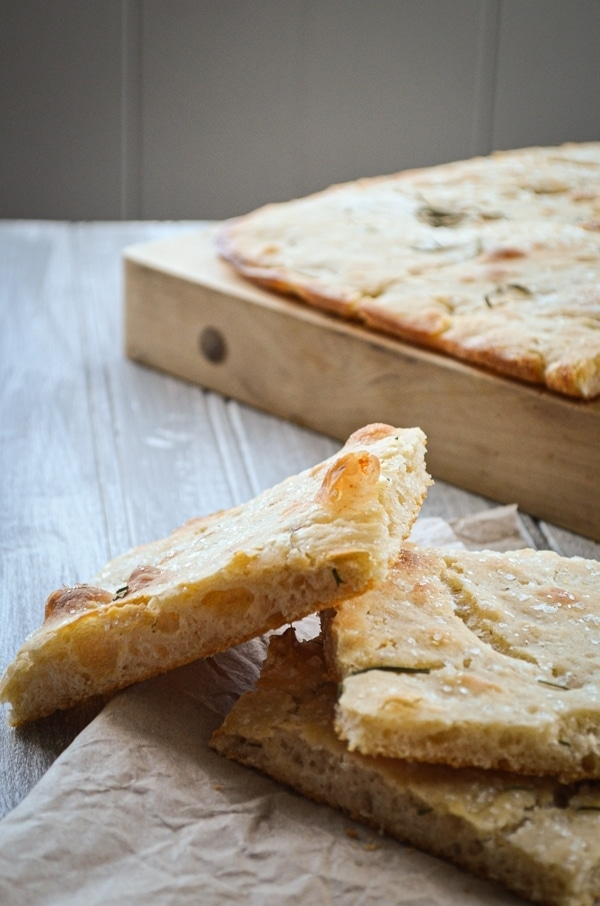 Fun, bubbly, and crisp, Sourdough Pizza Bianca can serve as a side dish, bread option, or even main course. It all depends on how you choose to top it! This recipe is made with sourdough and is fully fermented overnight for a complex flavor and ease of preparation.