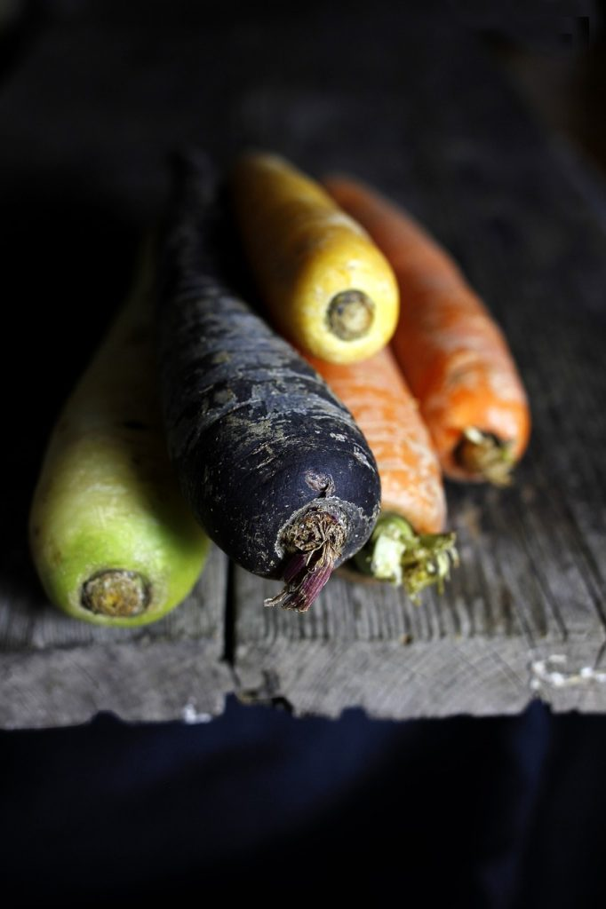 Carrots are a great vegetable option for long term food storage. They do very well in a cool area.