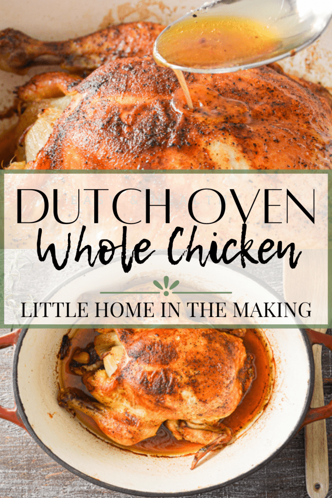 Try this healthy, homemade recipe for Rosemary Dutch Oven Chicken. Learn how to roast a whole chicken, and make bone broth when you're done!