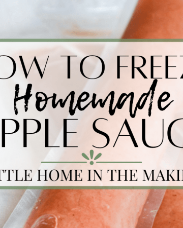 Homemade applesauce is delicious AND healthy. Keep it fresh for longer using these tips and learn how to freeze homemade applesauce!