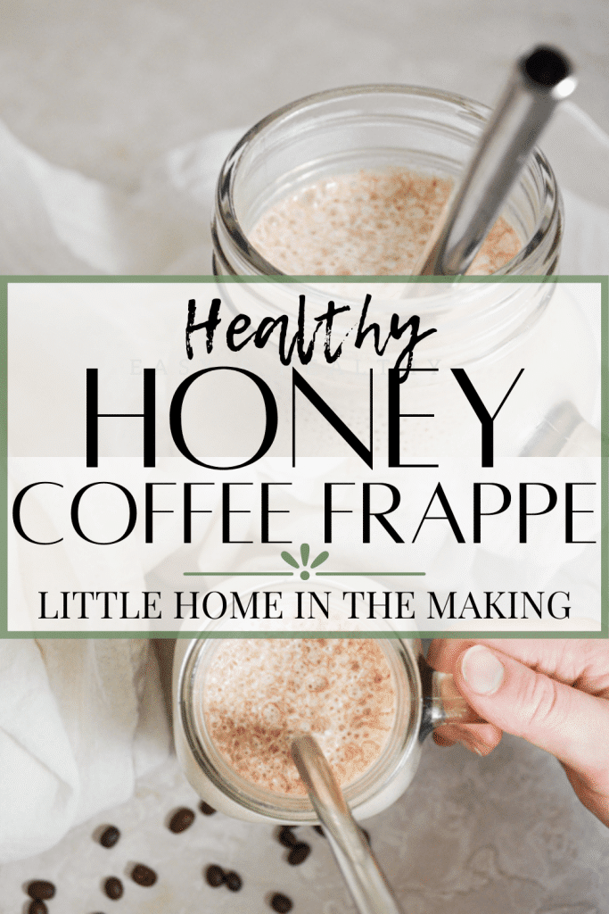 One of the biggest challenge in switching to a whole food diet is the whole coffee debacle! How do you sweeten your morning cup of joe naturally? Enter in this delicious Healthy Honey Sweetened Coffee Frappe. This iced coffee delight will enchant you year round with its sweet, honey flavor and zap of much needed caffeine.