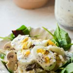 Baby Spinach Salad with Homemade Poppy Seed Dressing