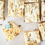 Easter Rice Krispie Treats - Made with Cadbury Mini Eggs