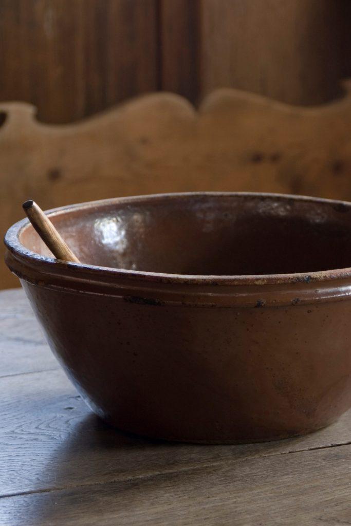 A large ceramic bowl.