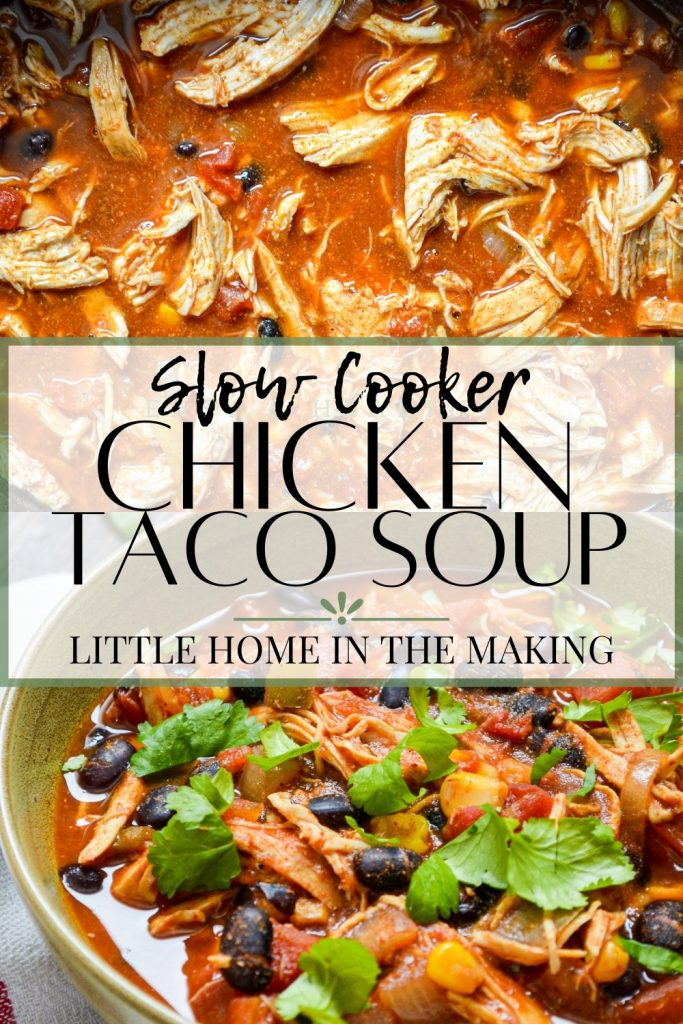 Slow Cooker Chicken Taco Soup from Little Home in the Making