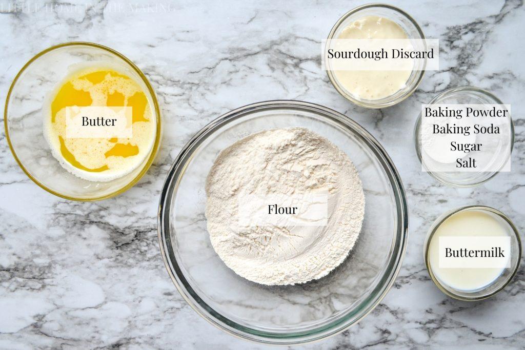Sourdough Discard Drop Biscuits Ingredients