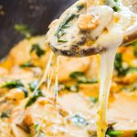 Low Carb Spinach, Mushroom, and Chicken Skillet