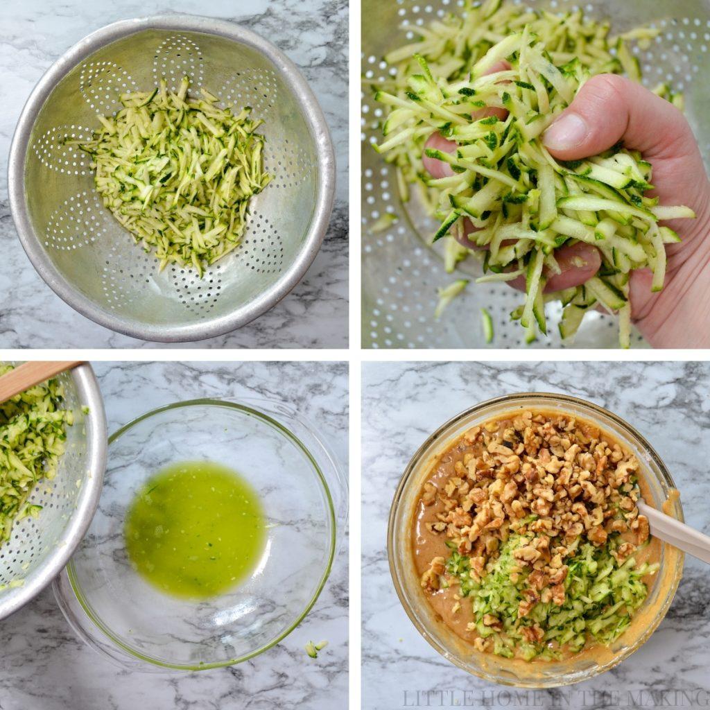 How to prepare zucchini for bread