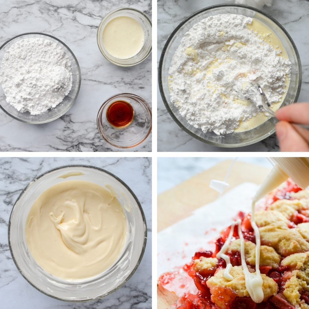 How to make a simple drizzle for dessert bars.